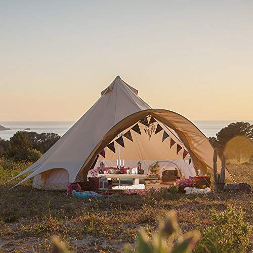 Boutique Camping Tents 4m Sandstone Star Bell Tent