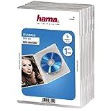 Hama DVD-Hüllen (auch passend für CDs und Blu-rays, mit Folie zum Einstecken des Covers) 5er-Pack, transparent