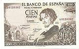 MATIDIA España Billete Original 100 PESETAS 1965 Gustavo Adolfo BECQUER