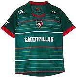 Leicester Tigers 2014/15 Enfants - Maillot de Rugby Pro à Domicile MC Vert 8 Ans Vert - Vert