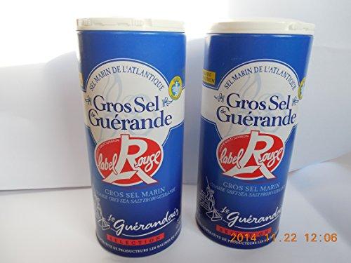 Grobes Meersalz aus Guérande (Gros sel Label rouge) - 2 x 500g Dose -(20,50 EUR /kg)- vom hendel-versand