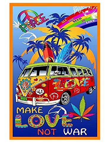 Tex family Hippies - Toalla de playa fotográfica de Polino Hippie, tamaño grande, 85 x 165 cm