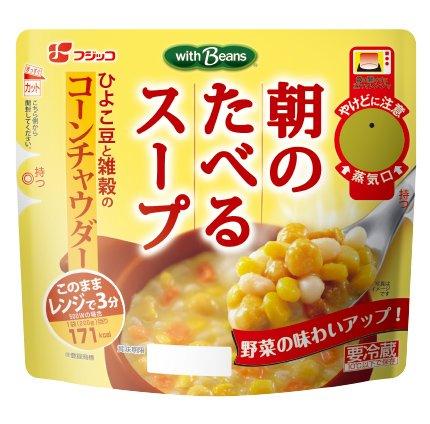 【クール便】フジッコ 朝のたべるスープ コーンチャウダー 200g×10食