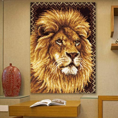 WLYX Tapestry Hand Embroidery,Latch Hook Kit, Needlework Latch Hook Kit Unfinished Crocheting Rug Yarn Cushion Embroidery Carpet Set (Color : 120 * 84CM)
