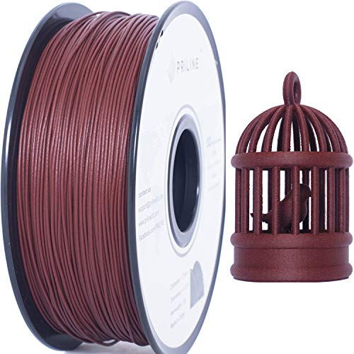 PRILINE 1kg Rosewood PLA Filament 1.75 3D Printer Filament(The Layer Should be Thicker Than 0.2mm and The Nozzle Should be Bigger Than 0.4mm)