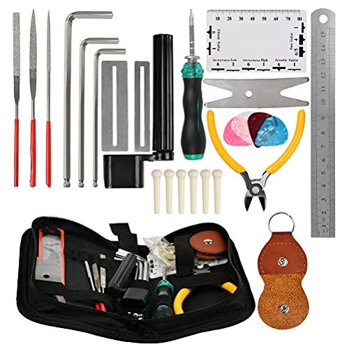 2. TIMESETL 26 Pcs Guitar Repairing Tool Kit