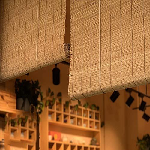 Estores Enrollables Cortinas Enrollables de Bambú, Cortina Opaca para Interiores de Estilo Japonés para Gazebo de Porche Amplio al Aire Libre, 65/85/105/125/135 Cm (Size : 135x260cm/53.1x102.4in)