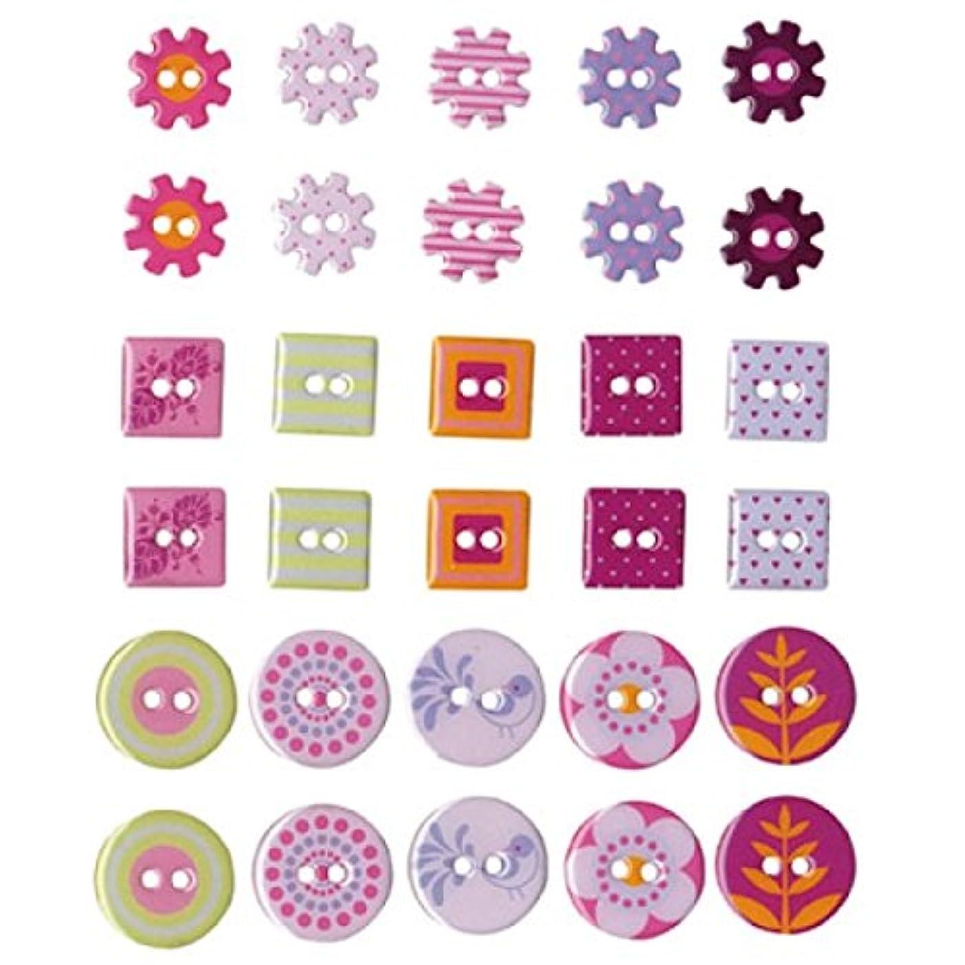 Artemio 11006439 30 Buttons in Epoxy Flowers