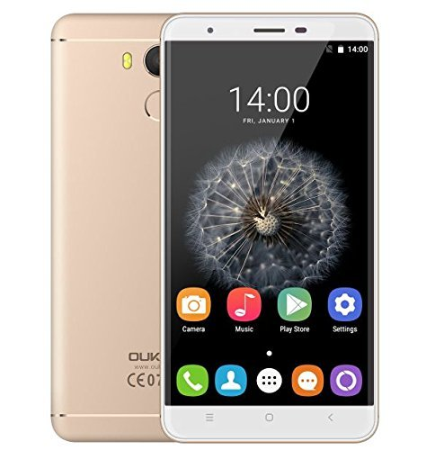 Oukitel U15 Pro - 5,5-Zoll-Bildschirm 4G-Smartphone 3GB RAM 32GB ROM 16.0MP Hintere Kamera Android 6.0 Fingerabdruck Bluetooth 4.0 - ORO TIRANO