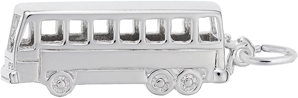 3D Sterling TOUR BUS Bead Charm for All Name Brand Add a Bead Charm Bracelets