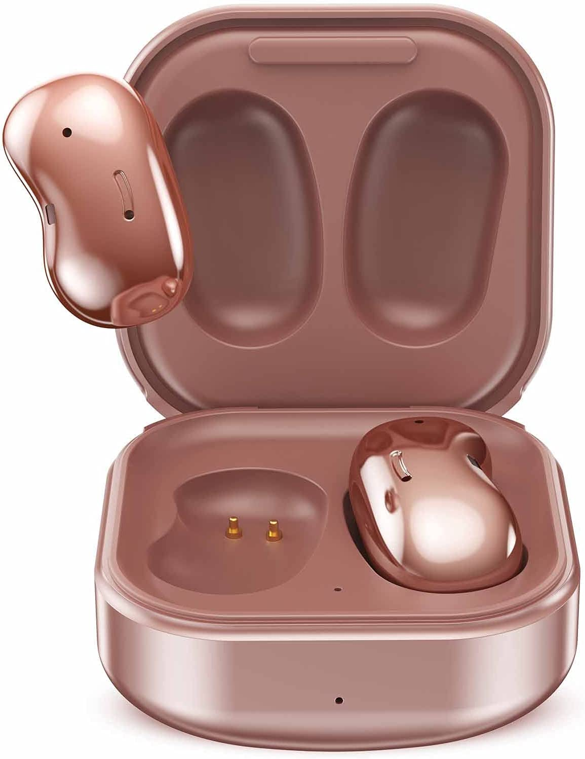 Urbanx Street Buds Live True Wireless Earbud Headphones for Samsung Galaxy Note 20 Ultra 5G - Wireless Earbuds w/Hands Free Controls - Rose Gold (US Version with Warranty)