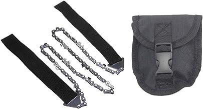 """Caminhadas Pocket Chainsaw Chain Saw 24""""Corrente De Serra De Mão Compacta Com Bolsa"""
