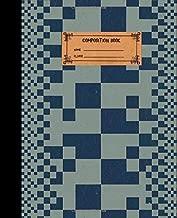 Composition book: Quaderno esercizi americano vintage a quadretti 5 mm 100 pagine - copertina morbida (Italian Edition)