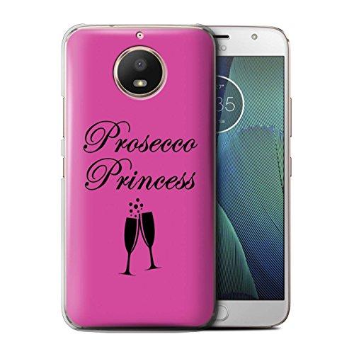 Stuff4®®®®®®®®®®®®®®®®®®®®®®®®®®®®®® Phone Case/Cover/Skin/Moto-CC/Prosecco Fashion Collection Motorola Moto E4 2017 Prosecco Princess/glas