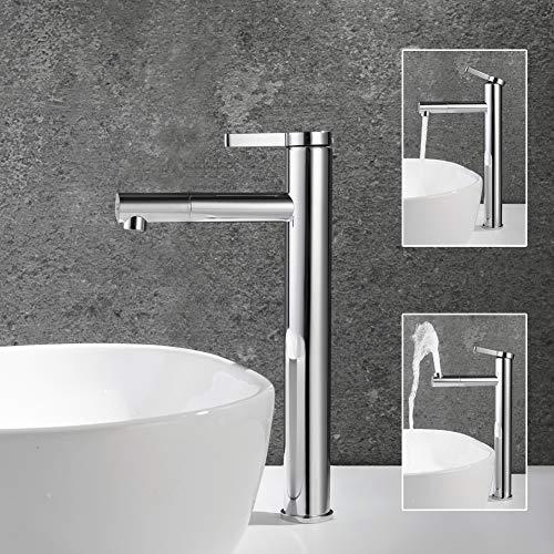 POP Bad Wasserhahn Armatur Badarmatur Waschbecken Badzimmer Hoch Mischbatterie Chrom