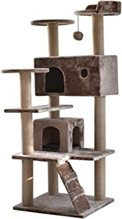 Cat Activity Trees Stand, Tall Cat Play Tower, Large Cat Condo, Sturdy Pet Play House Kittens House Furniture Trees Activi...