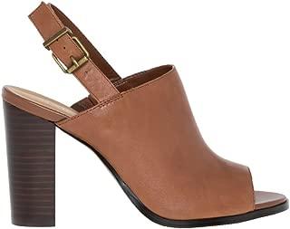 Leather Peep Toe Shoe Bootie