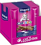 Vitakraft Cat-Stick Mini Saveur Cabillaud et Colin, Snack pour Chat (10 Sachet de 6 Sticks)