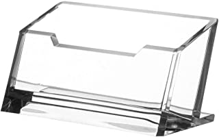 Kantek Acrylic Business Card Holder, Fits 80 Business Cards, 4.1-Inch Wide x 1.9-Inch Deep x 2.1-Inch High, Clear (AD30)
