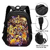 Kobe-Bryant USB Backpack Personality Large-Capacity Men and Women Backpack Black