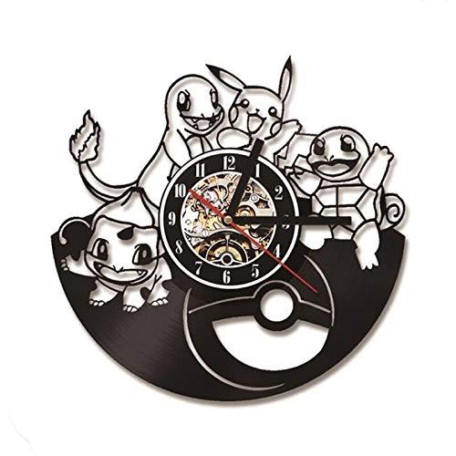 Reloj de pared con disco de vinilo, reloj de pared de diseño moderno, reloj de pared de diseño moderno, reloj de pared Vintage, decoración del hogar