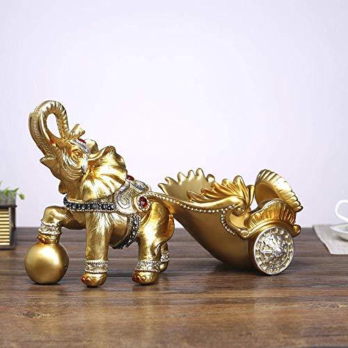 YAeele Decoraciones del Arte del Arte del Estante del Vino botellero Elefante de Rack Regalos Carrito Vino Adornos 4