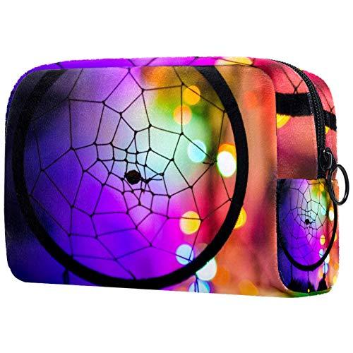 Bolsa de cosméticos para mujer, colorido atrapasueños, bolsas de maquillaje, accesorios organizador de regalos