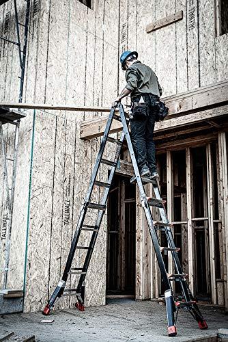 Little Giant Ladders, Dark Horse, M22, 11-19 foot, Multi-Position Ladder, Fiberglass, Type 1A, 300 lbs weight rating, (15145-001)