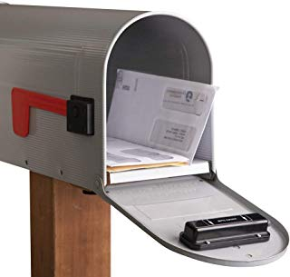 Collections Etc Mail Chime Wireless Mail Alert System, Silver