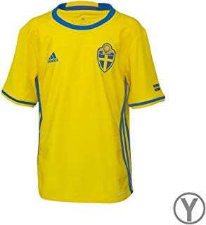 adidas SVFF Sweden Home Soccer Jersey UEFA Euro 2016 Youth. (L)