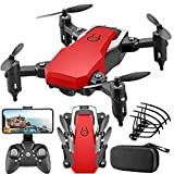 YepYes Mini Drone Plegable para Adultos y niños con cámara LF606 Control Remoto Helicóptero Sin Cabeza RC Quadcopter Blanco 500W
