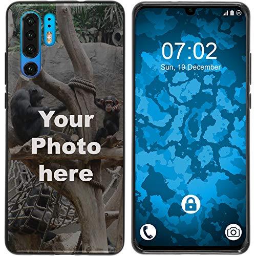 PhoneNatic Case kompatibel mit P30 Pro Personalisierte Handyhülle schwarz zum selbst gestalten mit eigenem Foto