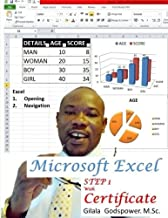 Microsoft Excel Step 1, With Certificate