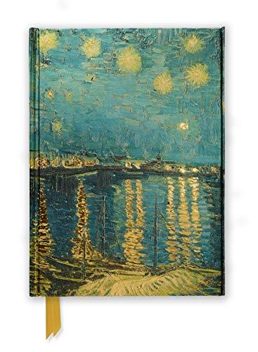 Premium Notizbuch DIN A5: Vincent van Gogh, Sternennacht über der Rhone: Unser hochwertiges, liniertes Blankbook mit festem, künstlerisch geprägtem ... DIN A 5 mit Magnetverschluss, Band 11)
