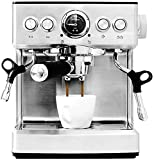 OGUAN Máquina de café, Máquina de café Italiana del hogar Vapor Semi-automático de la Leche de...