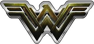 Fan Emblems Wonder Woman Logo Car Decal Domed/Multicolor/Chrome Finish, Batman v Superman: Dawn of Justice BvS Automotive Emblem Sticker Applies Easily to Cars, Motorcycles, Laptops, Cellphones, etc