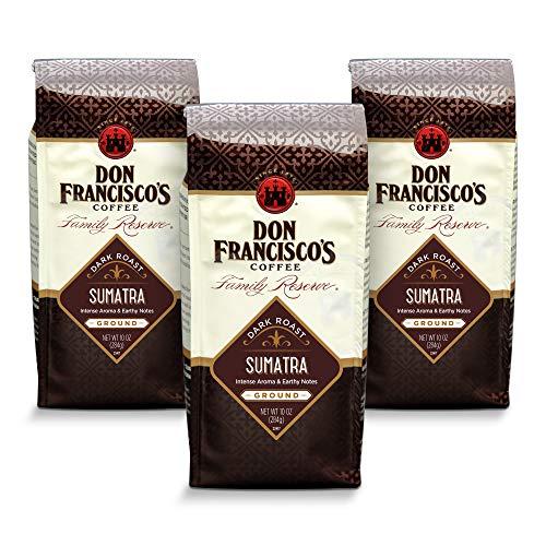 Don Francisco's Ground Sumatra Dark Roast Coffee (3 x 10-ounce bags)