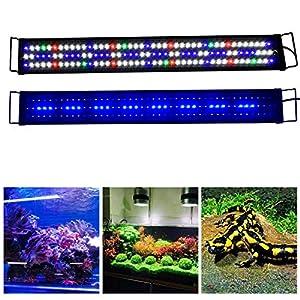 Aquarien Eco 12-70″ Aquarium Lights Fish Tank Lighting LED Marine Light Full Spectrum for Coral Reef Growing Fish Keeping fits 30cm-200cm Aquariums (Full Spectrum 36-47 inch, Full Spectrum 90-120cm)