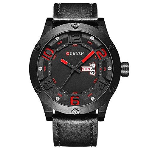 DAZHE Armbanduhr Curren Quarz-Uhren, CURREN8251 Herren Sportuhr wasserdicht Kalender Uhr Quarz Herrenuhr (Color : 1)
