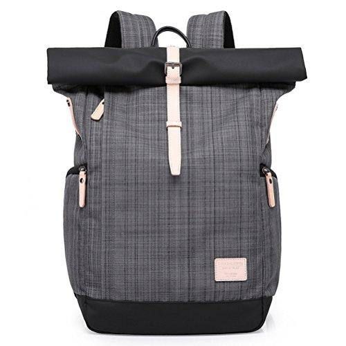 YFbear Roll-Top rugzak, hoogwaardige waterbestendige rugzak met rolsluiting, praktische dagrugzak, universele schoolrugzak, laptoptas of fietstas voor dames en heren