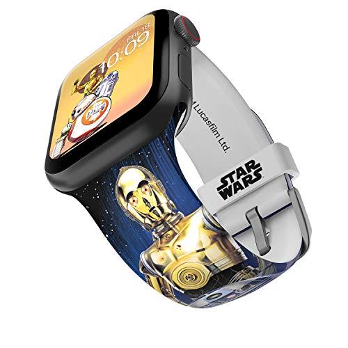 Star Wars - Correa para reloj inteligente Droids - Licencia oficial, compatible con Apple Watch (no incluido) - Se adapta a 42 mm y 44 mm
