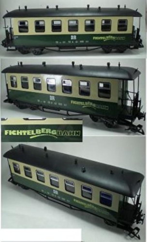 Fichtelbergbahn Saxon Style Passenger Car Green And Cream color Train Car