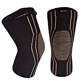 Thx4COPPER Sports Compression Knee Brace for Joint Pain and Arthritis Relief, Improved Circulation Support for Running, Jogging, Workout,Gym-Best Knee Sleeve-Single-Large