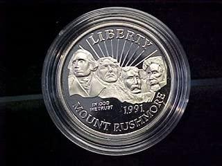 1991 S Mt. Rushmore Golden Anniversary Coin Half Dollar Proof US Mint