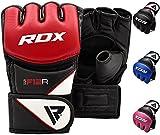 RDX MMA Guantes Profesionales para Artes Marciales, Saco de Boxeo Sparring Entrenamiento Grappling Gloves Freefight Saco de Arena Maya Hide Cuero Punching Guantes (Varias Vueltas)