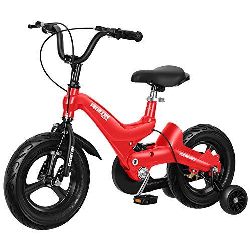 Bicicleta para Niños Bicicleta con Ruedas De Entrenamiento Y Frenos De Mano Andador Deslizante Bicicleta De Altura Ajustable En Tamaño 12', 14', 16'para Niñas Y Niños