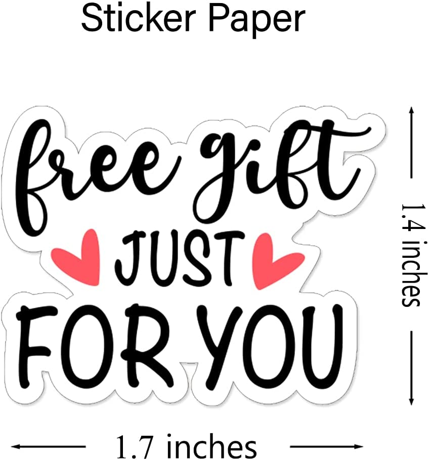 Wailozco 1.5'' Gift Just for You Stickers ,Thank You Stickers,Handmade Stickers,Business Stickers,Envelopes Stickers for Online Retailers,Handmade Goods,Small Business,500 Labels Per Roll