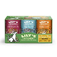 Multipack contains Sunday Lunch, Fishy Fish Pie and Wild Campfire Stew wet dog food Nutritionally complete, grain free and natural tinned wet food for adult dogs (4 months +) Made with freshly prepared meat, vegetables, fruits and herbs Made with pro...