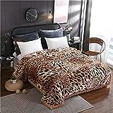 "LGYKUMEG Plush Fleece Blanket, Raschel Flannel Blanket King Size 79""×91"" - Heavy Korean Mink Blanket Super Soft, Warm, Thick, Printed Embossed Bed Blanket,9 lbs.(ca:200×230cm)"