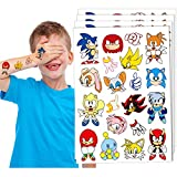 Temporary Tattoos for Sonic Party Supplies Kids 4 sheets Favors Birthday Decorations
